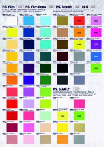 colors d'estampació amb vinil